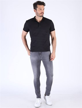GANA 182-29  Gri Ultra Slim Denim Pantolon