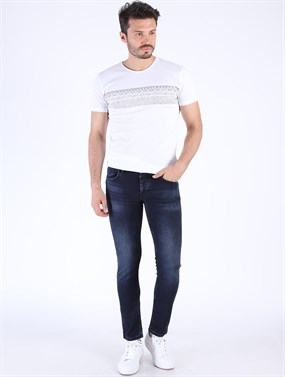 PANAMA 467-03 K.Lacivert Slim Fit Denim