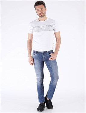 PANAMA 481-02 Mavi Dar Fit Denim pantolon
